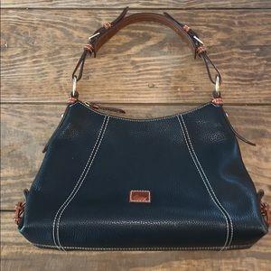 Dooney & Bourke | Black Leather Bag w/Brown Trim